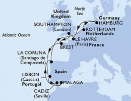 14 Noches por Alemania, Francia, Francia, Bélgica, Holanda a bordo del MSC Preziosa