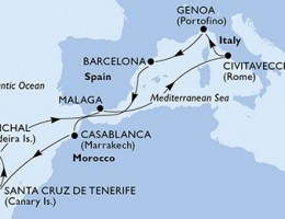 11 Noches por Italia, España, Marruecos, Portugal a bordo del MSC Magnifica