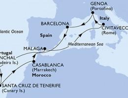 11 Noches por Italia, España, Portugal, Marruecos a bordo del MSC Magnifica