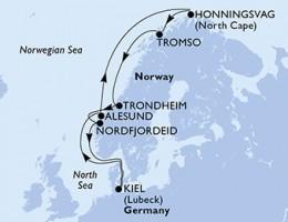 10 Noches por Alemania, Noruega a bordo del MSC Splendida
