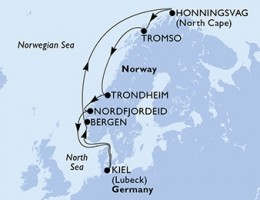 10 Noches por Alemania, Noruega a bordo del MSC Splendida